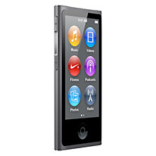 Buy Apple iPod nano, 16GB, Space Grey Online at johnlewis.com