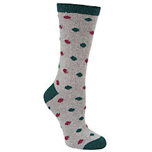 Buy John Lewis Wool & Silk Mix Spot Print Ankle Socks Online at johnlewis.com