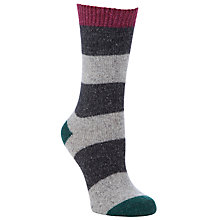 Buy John Lewis Wool Silk Mix Striped Ankle Socks, Multi Online at johnlewis.com