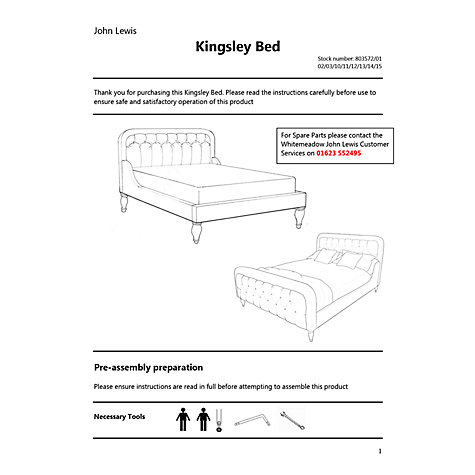 Buy John Lewis Kingsley Bed Frame, King Size Online at johnlewis.com