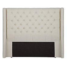Buy John Lewis Balmoral Headboard, Super Kingsize, Parchment Online at johnlewis.com