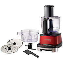 Buy Morphy Richards 401001 Accents Induction Food Processor, Red Online at johnlewis.com