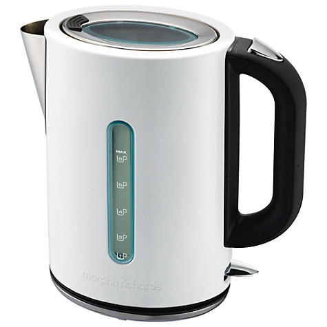 Buy Morphy Richards 43941 Elipta Kettle, White Online at johnlewis.com