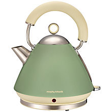 Buy Morphy Richards Accents Kettle and 4-Slice Toaster, Sage Green Online at johnlewis.com