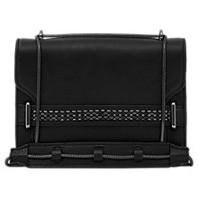 Buy Reiss Tulia Chain Front Leather Bag, Black Online at johnlewis.com
