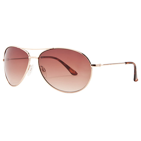 Buy John Lewis Classic Aviator Sunglasses, Gold Online at johnlewis.com