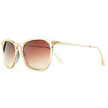 Buy John Lewis Ladies D-Frame Sunglasses, Clear Online at johnlewis.com