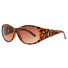 Buy John Lewis Ladies Chain Arm Detail Oval Frame Sunglasses Online at johnlewis.com