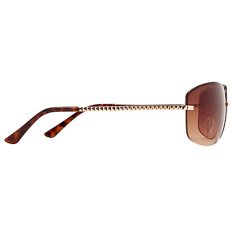 Buy John Lewis Rimless Frame Sunglasses, Gold Online at johnlewis.com