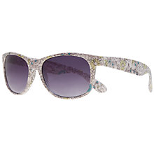 Buy John Lewis D-Frame Floral Print Acetate Sunglasses, Yellow Online at johnlewis.com