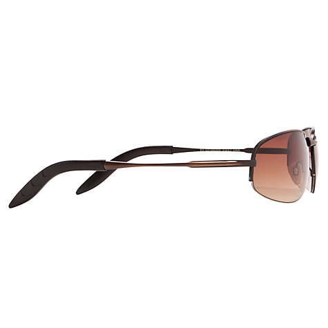 Buy John Lewis Semi Rimless Sunglasses, Brown Online at johnlewis.com