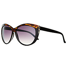 Buy John Lewis Cats Eye Sunglasses, Black / Tortoiseshell Online at johnlewis.com
