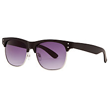 Buy John Lewis Club Master Sunglasses, Matte Black Online at johnlewis.com