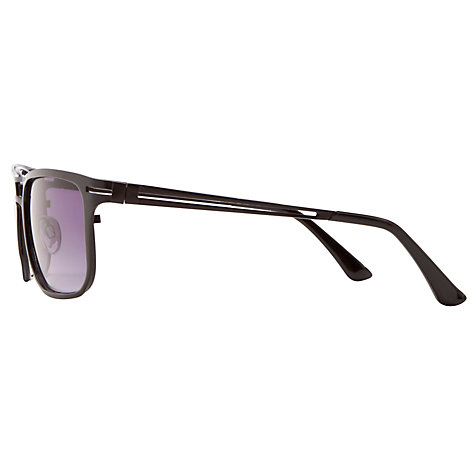 Buy John Lewis Double Brow Sunglasses, Matte Black Online at johnlewis.com