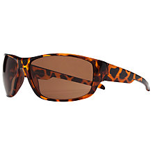 Buy John Lewis Men's Wrap Around Rectangular Acetate Frame Sunglasses, Tortoiseshell Online at johnlewis.com