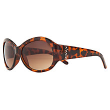 Buy John Lewis Ladies Diamanté Detail Oval Frame Sunglasses, Tortoiseshell Online at johnlewis.com