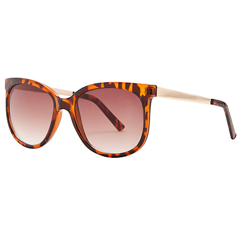 Buy John Lewis Oval Metal Arms Sunglasses, Tortoiseshell Online at johnlewis.com
