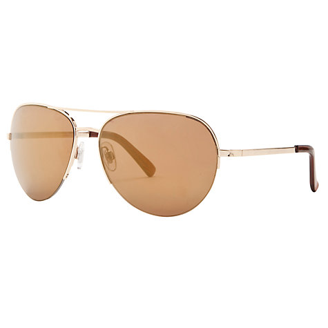 Buy John Lewis Rimless Aviator Sunglasses, Gold Online at johnlewis.com
