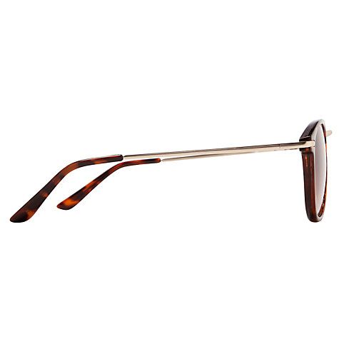 Buy John Lewis Preppy Metal Nose Sunglasses, Tortoise Online at johnlewis.com