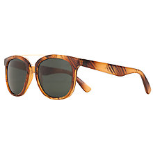 Buy John Lewis Classic D Frame Shape Metal Brow Sunglasses, Brown Online at johnlewis.com