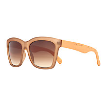 Buy John Lewis Angled Frame Faux Wood Arm Sunglasses, Caramel Online at johnlewis.com