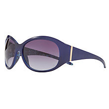 Buy John Lewis Daisychain Print Wrap Around Sunglasses, Magenta Online at johnlewis.com
