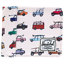 Buy Herschel Edward Car Print Bifold Wallet, Cream Online at johnlewis.com
