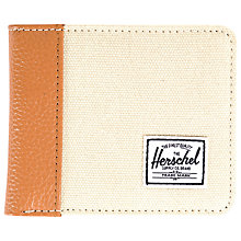 Buy Herschel Edward Bifold Wallet, Beige Online at johnlewis.com