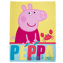 Buy Peppa Pig Seaside Fleece Blanket, Multi Online at johnlewis.com
