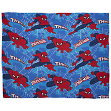 Buy Spider-Man Fleece Blanket, Blue/Red Online at johnlewis.com