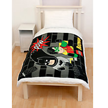 Buy LEGO Batman Fleece Blanket, Black/Multi Online at johnlewis.com