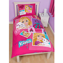 Buy Barbie Single Duvet and Pillow Set, Pink/Multi Online at johnlewis.com