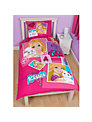 Barbie Single Duvet and Pillow Set, Pink/Multi