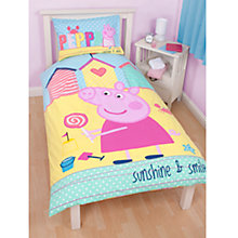 Buy Peppa Pig Seaside Single Duvet Cover and Pillow Set, Multi Online at johnlewis.com