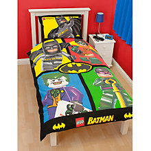 Buy LEGO Batman Single Duvet Cover and Pillow Set, Multi Online at johnlewis.com