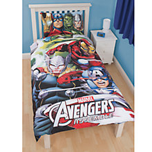 Buy Avengers Assemble Single Duvet and Pillow Case Set, Multi Online at johnlewis.com