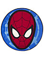Spider-Man City Rug, Red/Blue