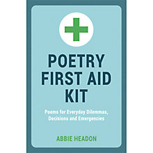 Buy Poetry First Aid Kit Book Online at johnlewis.com