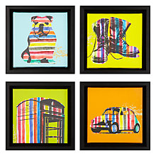 Buy Gallery One Stripes Prints on Canvas, Set of 4, 22 x 22cm Online at johnlewis.com
