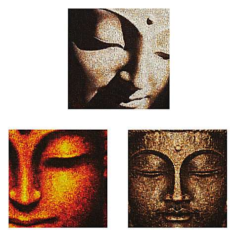 Buy Gallery One Buddhas Picture Boxes, Set of 3, 35 x 35cm Online at johnlewis.com