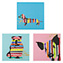 Buy Gallery One Stripes Picture Boxes, Set of 3, 35 x 35cm Online at johnlewis.com