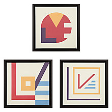Buy Gallery One Love Prints on Canvas, Set of 3, 40 x 40cm Online at johnlewis.com