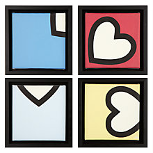 Buy Gallery One Love Prints on Canvas, Set of 4, 22 x 22cm Online at johnlewis.com
