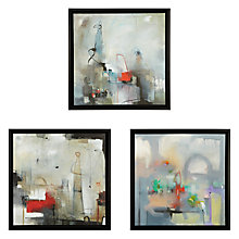 Buy Gallery One Natural Insinuada Prints on Canvas, Set of 3, 55 x 55cm Online at johnlewis.com