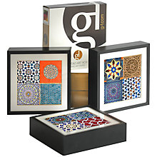 Buy Gallery One Arabic Geometry Framed Prints, Set of 3, 22 x 22cm Online at johnlewis.com