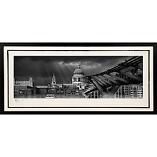 Buy Gallery One, Gregg Sedgwick - St Paul's Cathedral and Millennium Bridge Signed Limited Edition Framed Print, 69 x 147cm Online at johnlewis.com