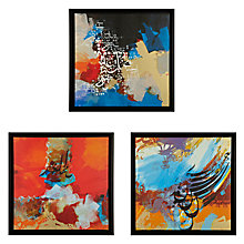 Buy Gallery One Love Prints on Canvas, Set of 3, 55 x 55cm Online at johnlewis.com