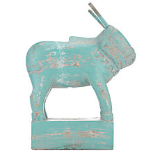 Buy Nkuku Zalu Carved Cow, Grey Online at johnlewis.com