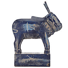 Buy Nkuku Zalu Carved Cow, Navy Online at johnlewis.com