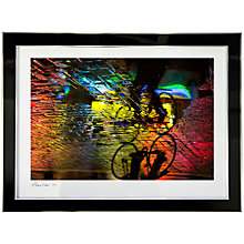 Buy Gallery One, Alex Saberi - Cycling Soho's Rainbow Signed Limited Edition Framed Print, 64 x 78cm Online at johnlewis.com